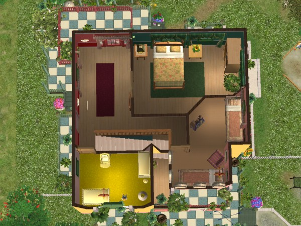 mod the sims villa kunterbunt colorful gardener paradise. Black Bedroom Furniture Sets. Home Design Ideas