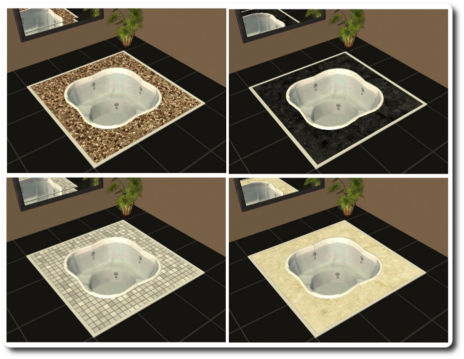 Mod The Sims Spiffy Spa Designable Sunken Hot Tub