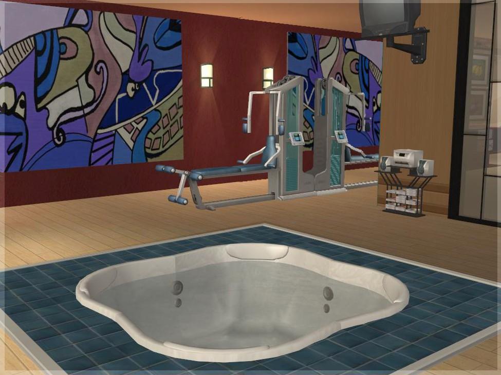 Mod the sims spiffy spa designable sunken hot tub