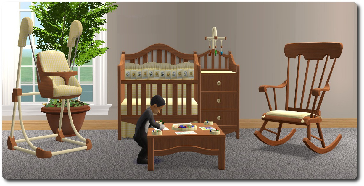 Admirable Mod The Sims Nursery Add Ons Ii A Rocking Chair And Haffa Lamtechconsult Wood Chair Design Ideas Lamtechconsultcom