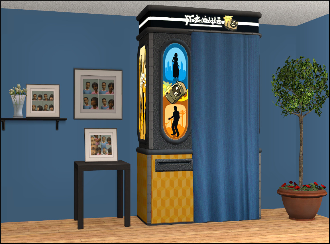 Mod the sims gigi photo booth a ts3 conversion gigi photo booth a new more modern photo booth from the sims 3 showtime expansion pack it also comes with updated picture frames that werent converted jeuxipadfo Images