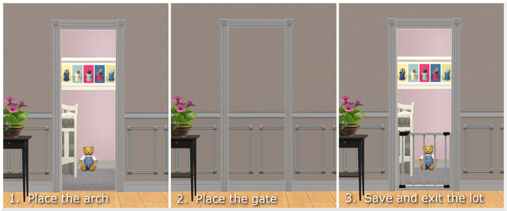 Mod The Sims Universal Baby Gate Contain Your Toddlers
