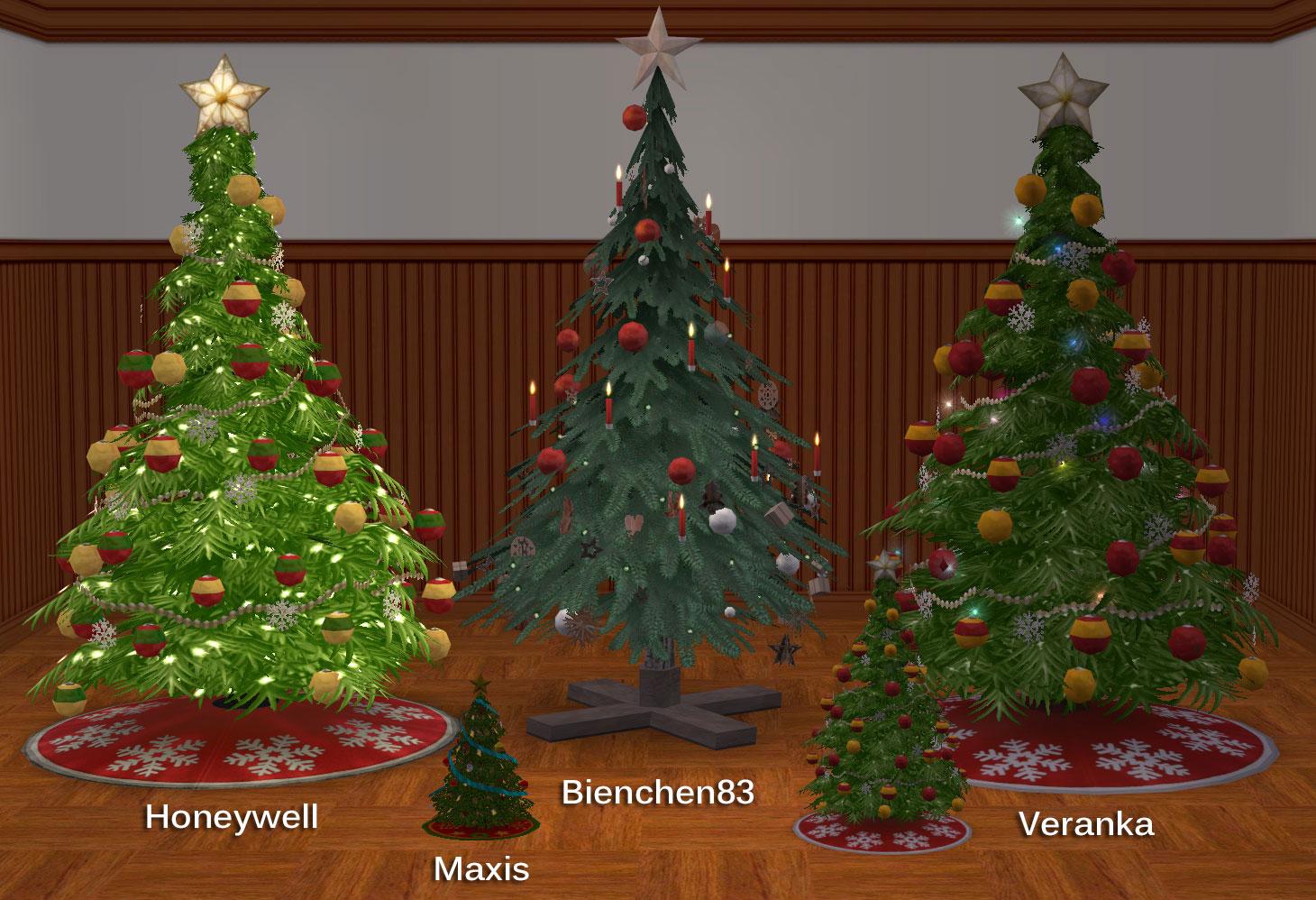 Sims 3 Christmas Tree.Mod The Sims Summon Santa W Cc Christmas Trees