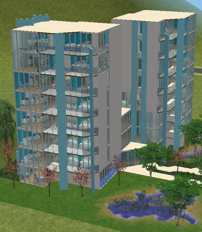 Mod the sims aqua luxury apartments for Sims 4 meuble a telecharger