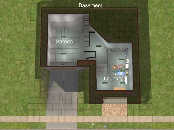 Mod The Sims Compact 2x2 Lot W Basement Garage II