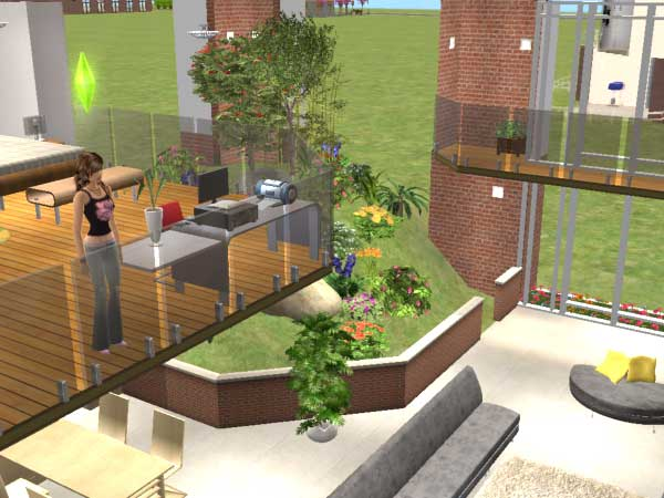 mod the sims compact xiv 2x2 spacious loft with indoor. Black Bedroom Furniture Sets. Home Design Ideas