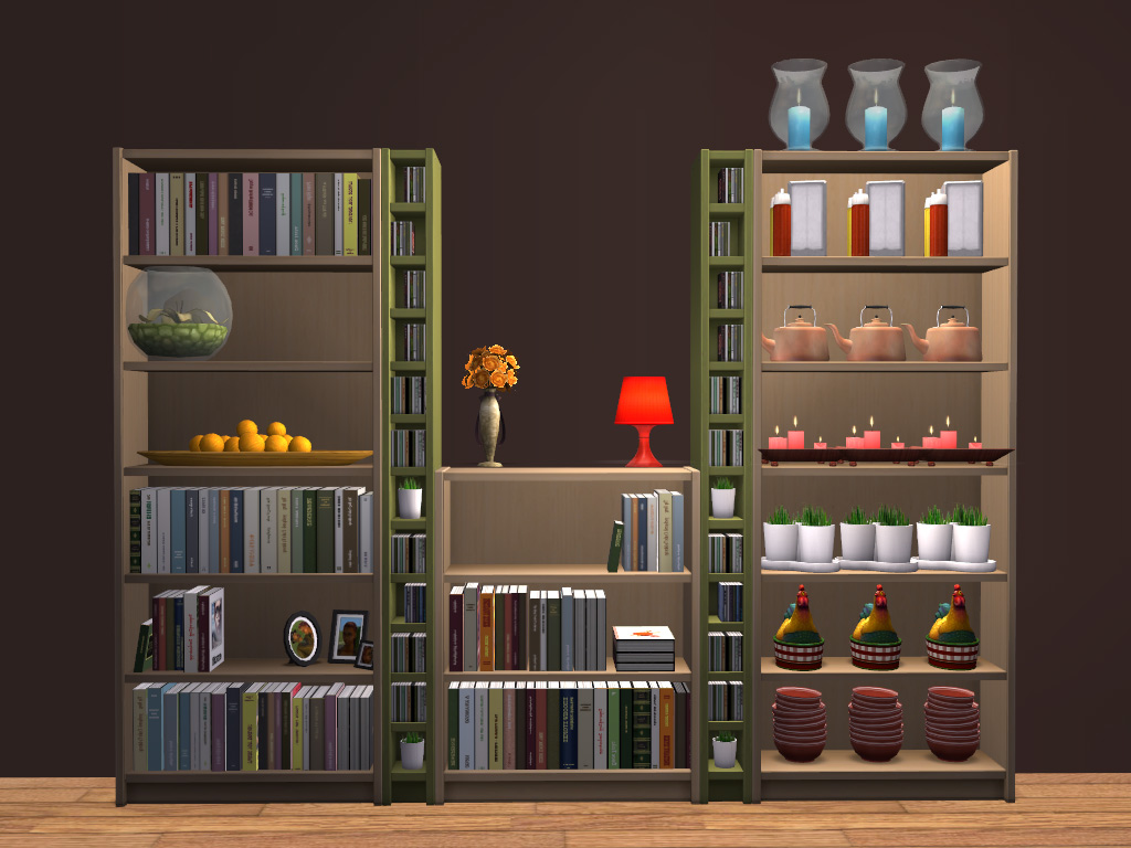 Mod The Sims - Ikea Bookcases Emptied with 21 Slots