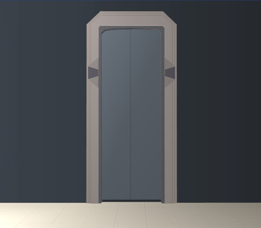x & Mod The Sims - Star Trek Sliding Door