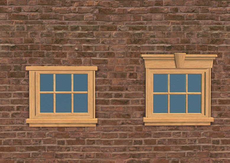 Mod The Sims Half Size Colonial Windows Maxis Match
