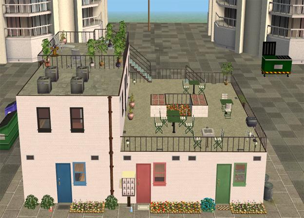 mod the sims city box apartment lot. Black Bedroom Furniture Sets. Home Design Ideas
