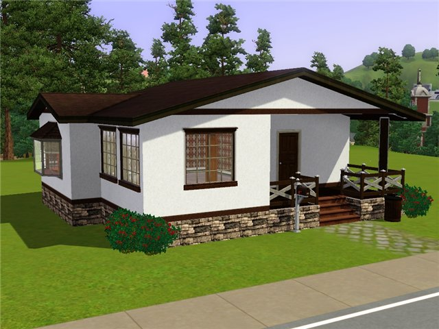 Mod the sims village house for Small house design for bangladesh