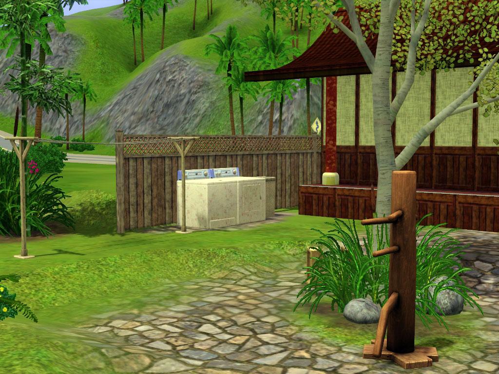 Mr Miyagi Backyard mod the sims - kensei miyagi dojo