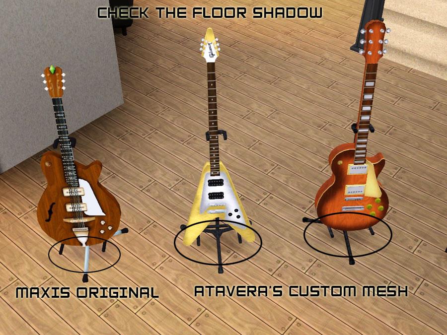Mod The Sims - Atavera\'s Custom Guitars Converted for Sims 3