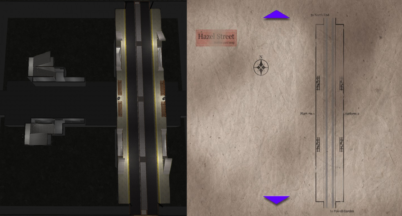 Silent Hill 3 Subway Map