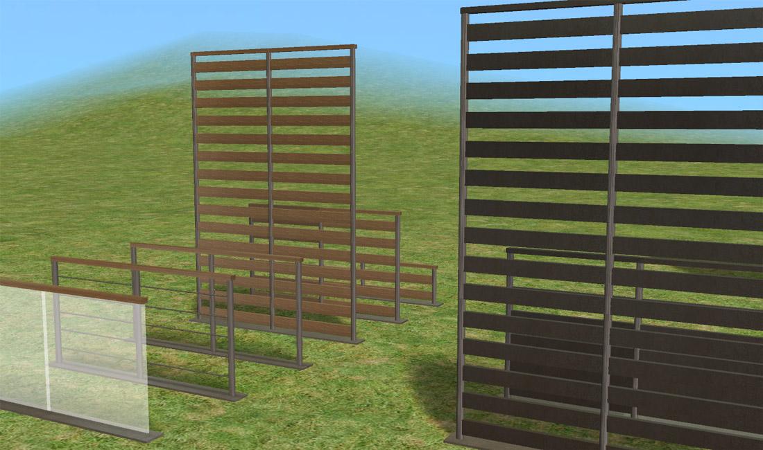 mod the sims   lirunchik s modern fences set recolours