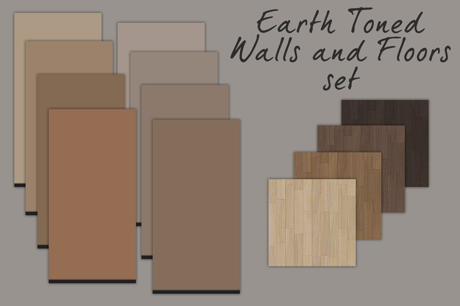 Mod The Sims - Earth Toned Walls and Floors set