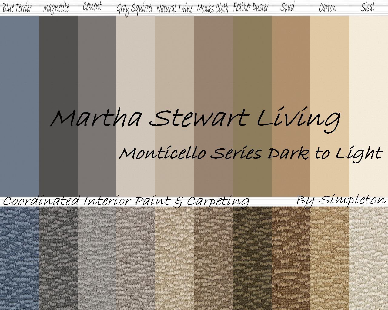 Martha Stewart Bedroom Paint Colors Mod The Sims Martha Stewart Living Monticello Interior Paint