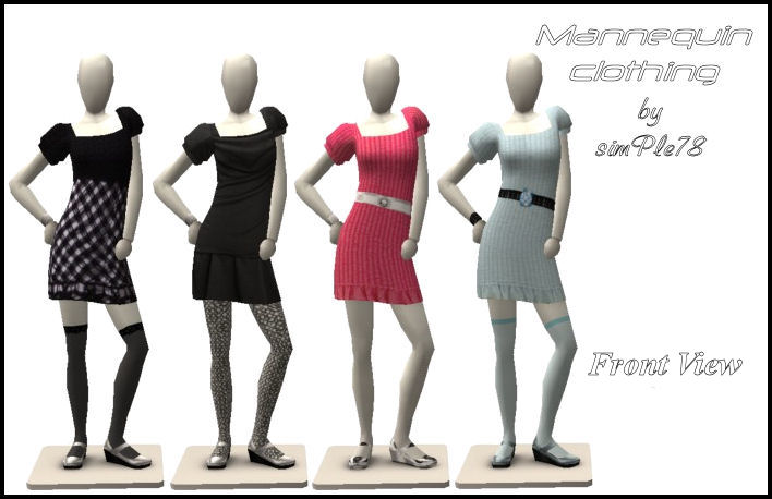 mod the sims new clothes for the mannequin