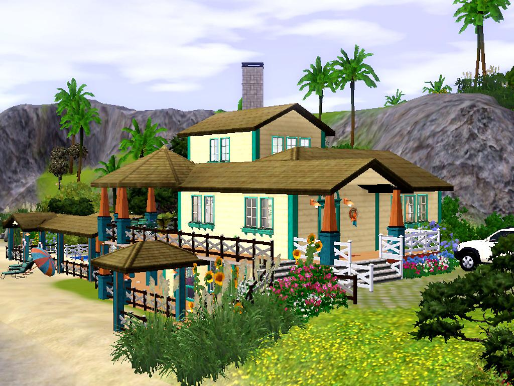 Mod the sims sunny beach house base game only for Beach house 3 free download