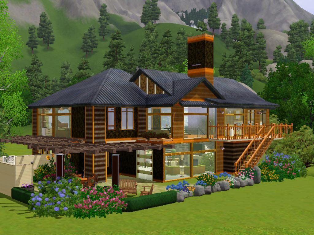 Mod the sims contemporary split level home for 2 level house