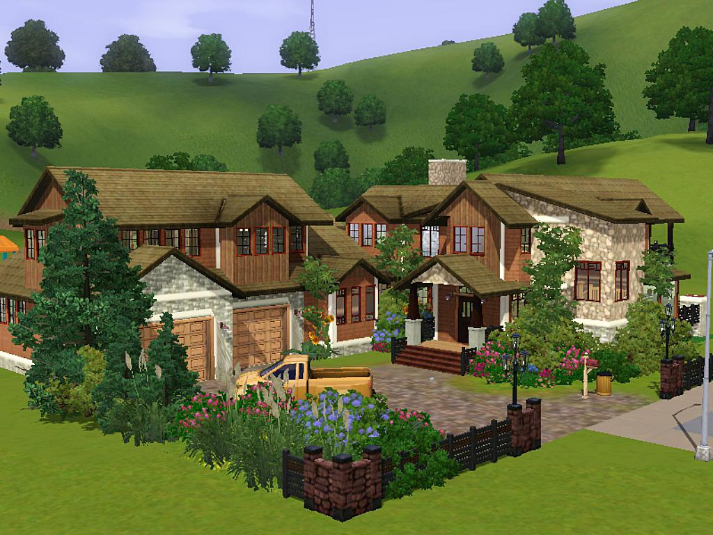 Mod The Sims Stone Timber Home