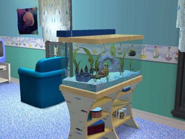 Mod The Sims Fish theme bedroom amp Nursery. Fish Tank In Bedroom