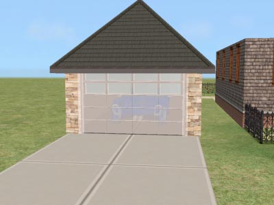 Mod The Sims Invisible Garage Door Recolor For Horse