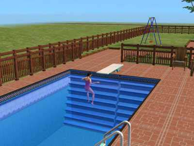 Mod the sims 2 transparent and blue transparent recolors for Pool design sims 3