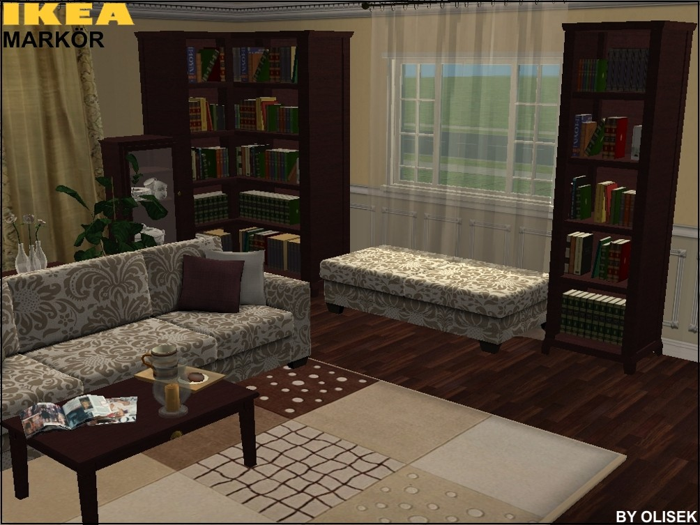 Mod The Sims Ikea MARK R Livingroom Set Part I – Ikea Markor Bookcase