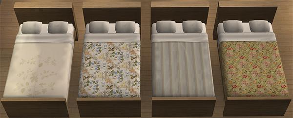 Mod The Sims Pottery Barn Maxis Bedding Set 1