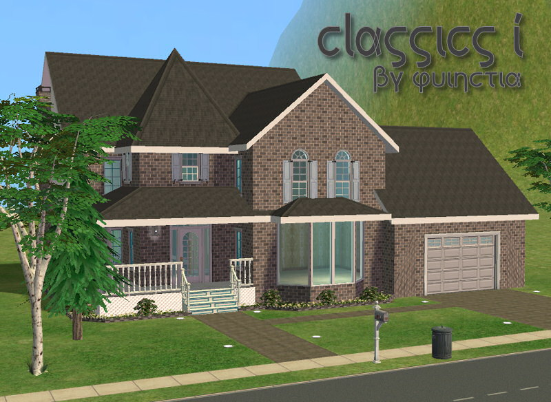 Mod the sims classics 1 furnished unfurnished for Sims 2 house designs floor plans