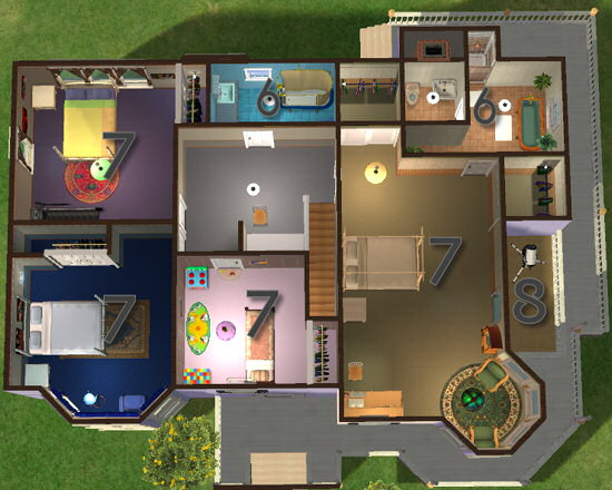 Mod the sims classics 2 furnished and unfurnished for Sims 2 house designs floor plans