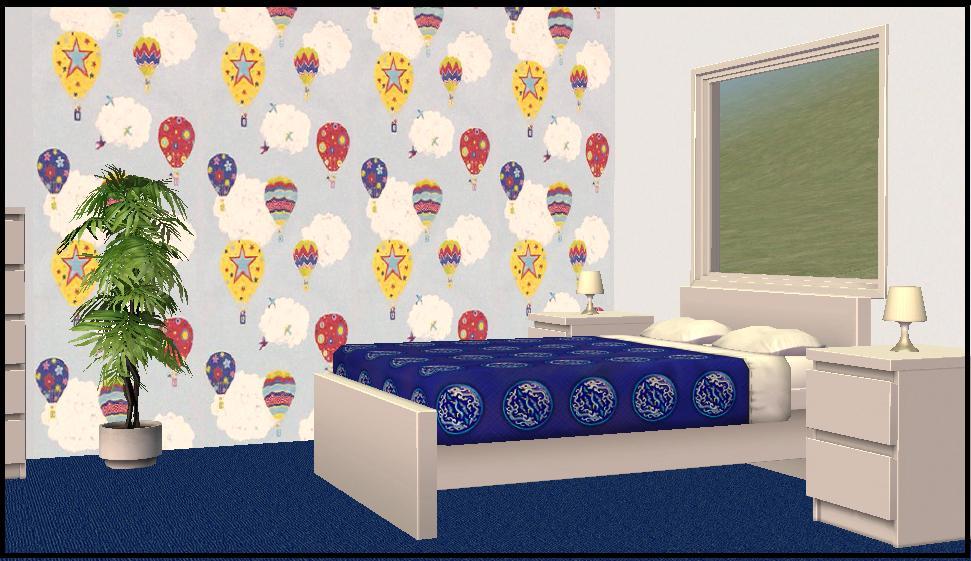 Mod The Sims Hot Air Balloon Wallpaper Matching Paints