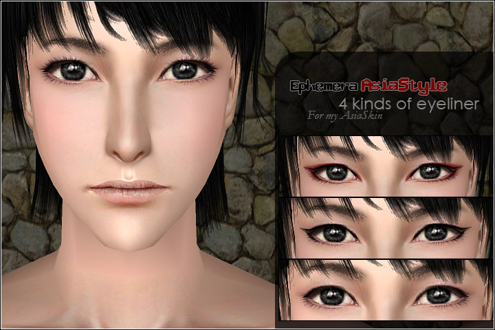 Mod The Sims Eye Makeup Set For My Asiastyle Skintone