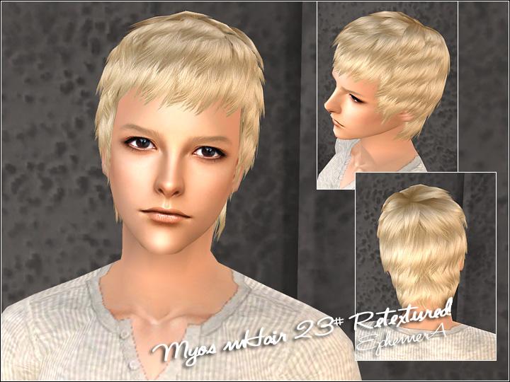 Mod The Sims Myos Male Hair No 23 26 Retextured