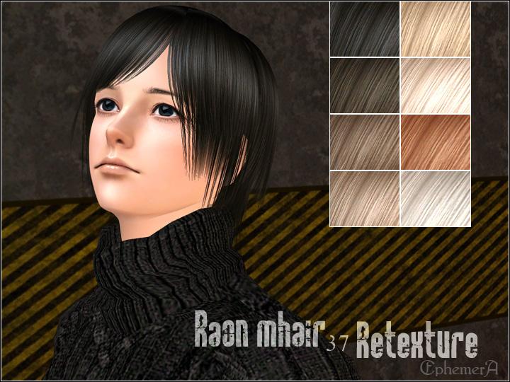 Mod The Sims Xm Florahair070 088 Raon Mhair 037 Retextured Alpha