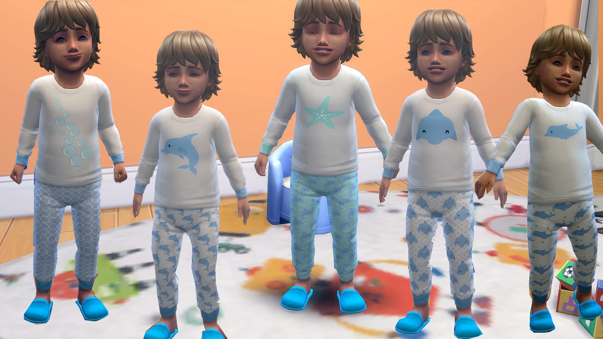 Под морем-пижама малышей