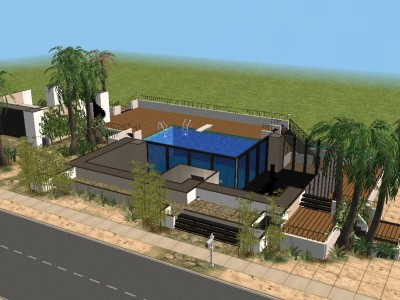 Mod The Sims Beach House with 2 Story Pool Swimable Beach