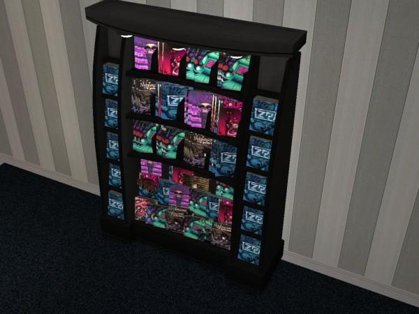 Mod the sims slg comic store book racks - Comic book display shelves ...