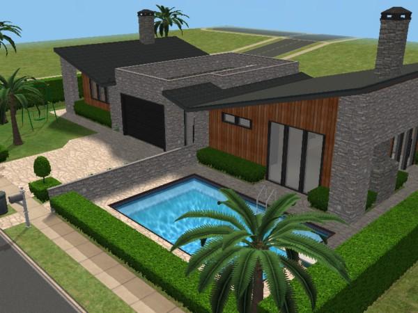 Mod the sims 60 39 s moderna beach house for Casa moderna sims 3 sin expansiones