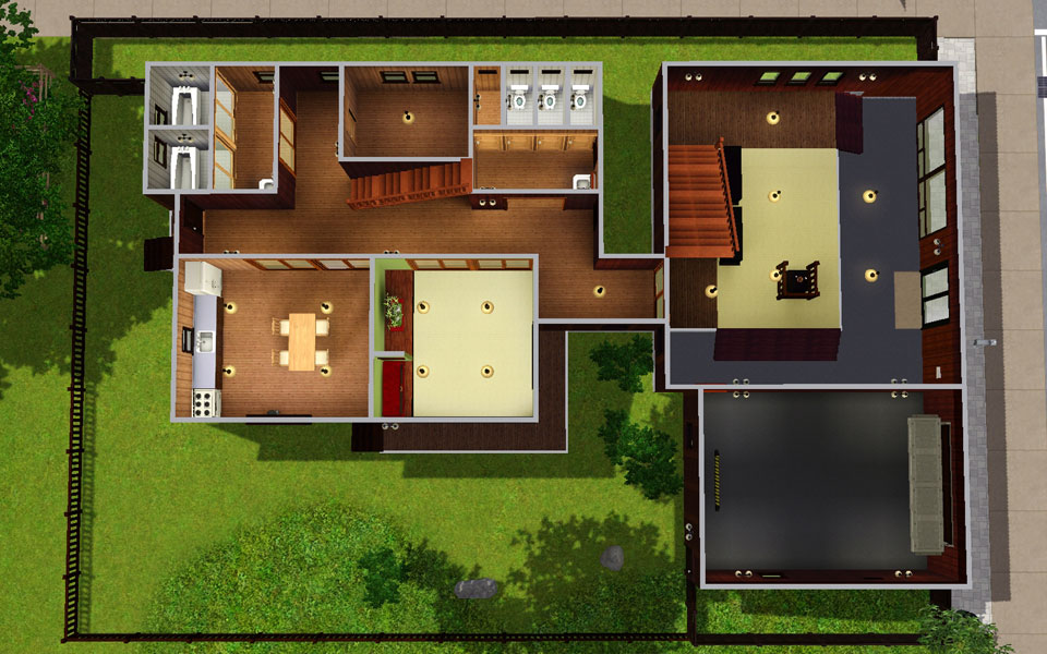 Mod the sims japanese style house 13 for Asian style house plans