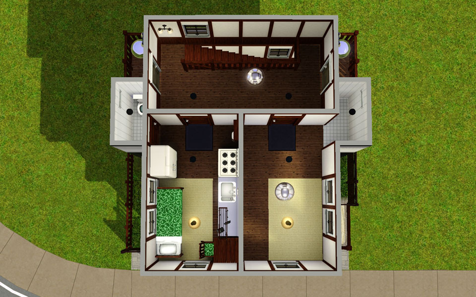 Mod The Sims - Mini japanese style apartment