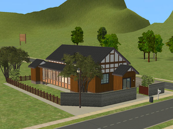 Mod the sims japanese style house 6 - Japanese style home ...