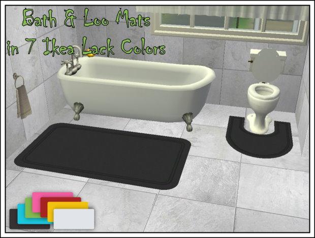 Mod The Sims Simplanx Bath Loo Mats
