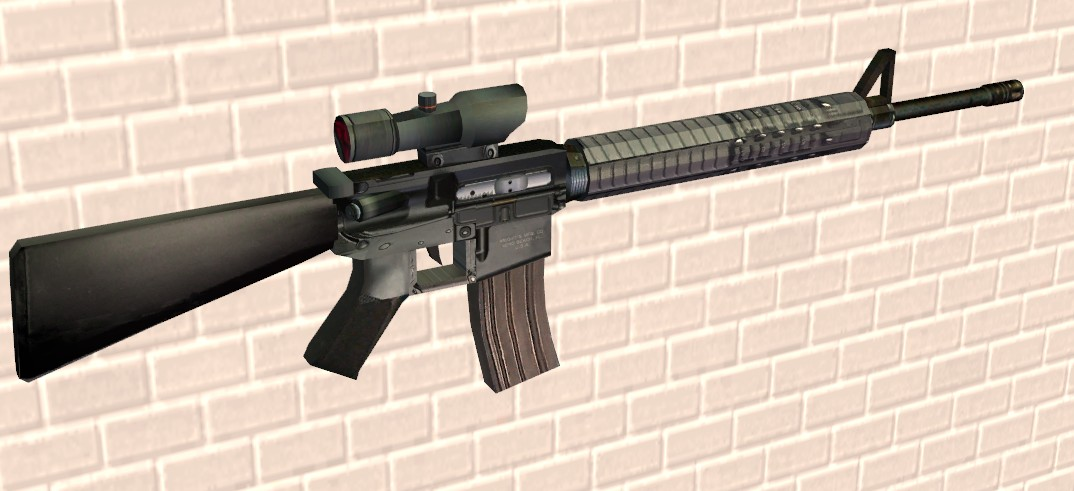 Mod The Sims - M16A4 with ACOG Scope M16a4 Acog