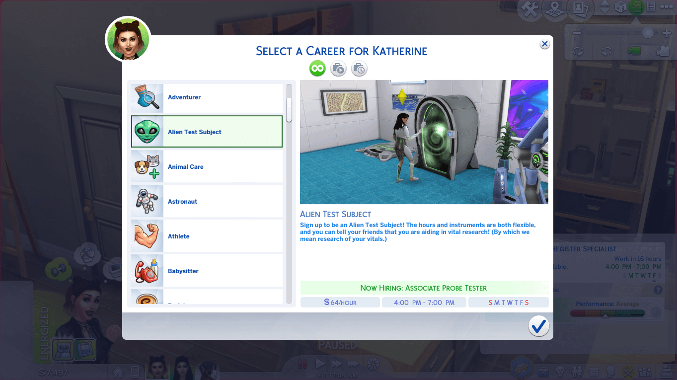 Mod The Sims - Part Time Careers (TS3 to TS4)