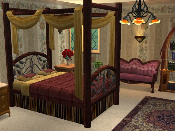 mod the sims midnight mystery canopy bed 1 recolor. Black Bedroom Furniture Sets. Home Design Ideas