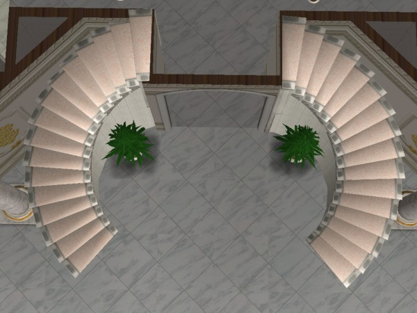 Mod The Sims Double Curved Staircase