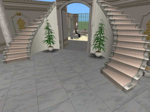 Mod the sims double curved staircase for Double curved staircase