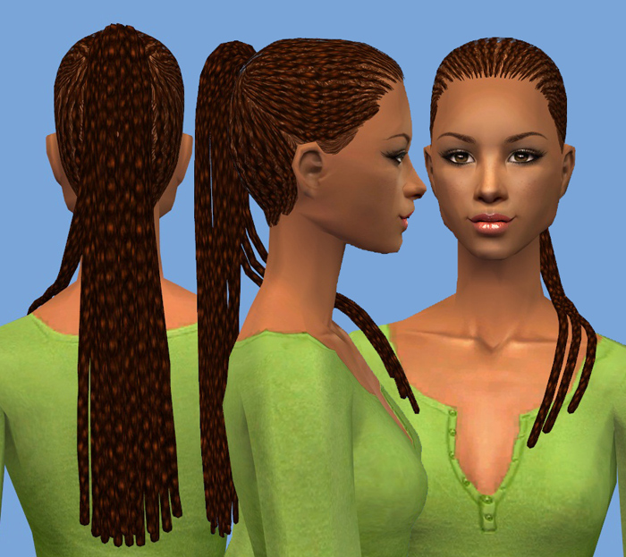 Mod The Sims Nouk Braid Pack One Style 3 Versions